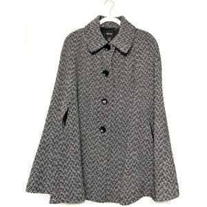 Style & Co Wool Tweed 3 Button Cape Coat Size 1X